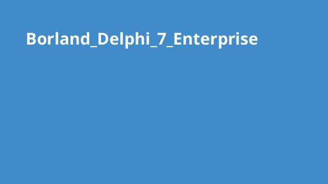 دانلود نرم افزار Borland Delphi 7 Enterprise
