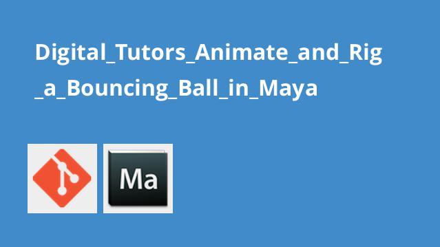 شبیه سازی جهش توپ با Maya
