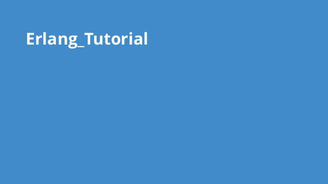 آموزش برنامه نویسی Erlang