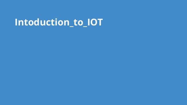 آشنایی با اینترنت اشیا (IoT)