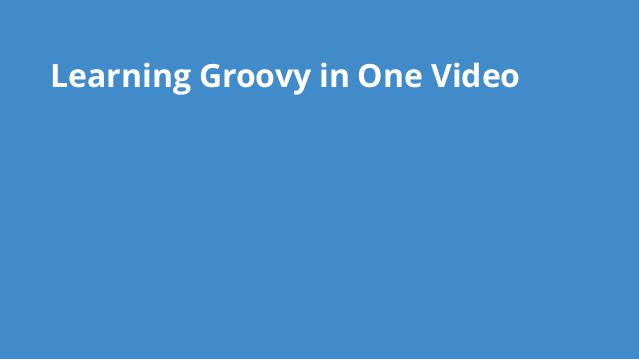 learning-groovy-in-one