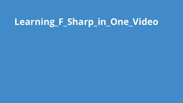 آموزش کامل اف شارپ در یک ویدئو