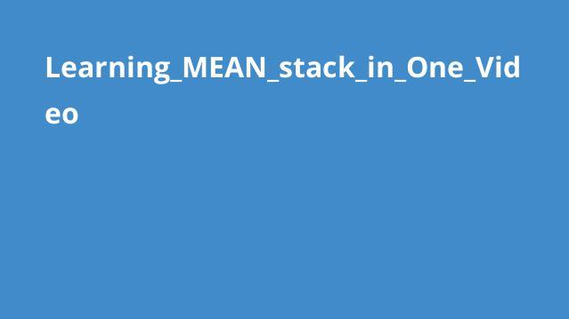 آموزش کامل MEAN stack در یک ویدئو