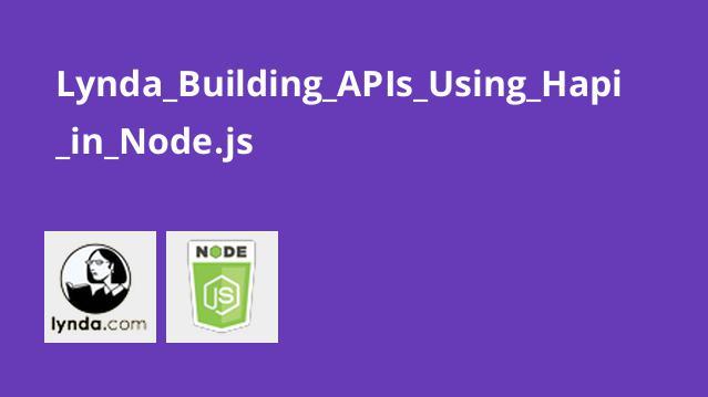 Lynda Building APIs Using Hapi in Node.js