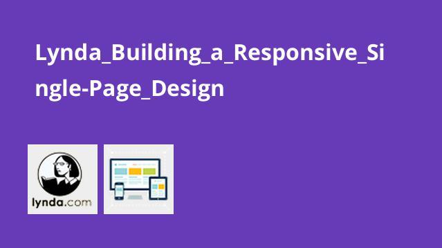 ساخت طرح تک صفحه ای واکنش گرا با HTML و CSS و JavaScript
