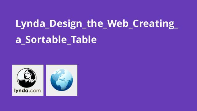 آموزش طراحی وب : ایجاد یک جدول با قابلیت مرتب شدن