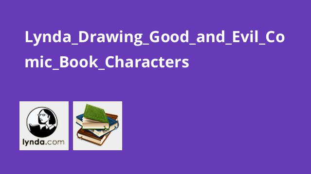 طراحی شخصیت های خوب و بد کتاب های Comic