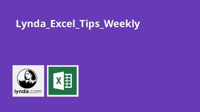 Lynda Excel Tips Weekly