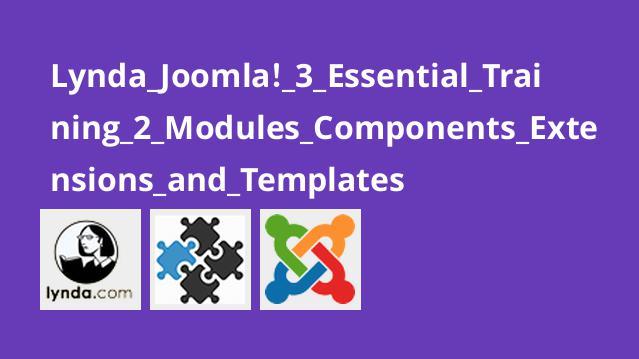 آموزش اصولی Joomla! 3 – بخش 2 – ماژول ها، کامپوننت ها، اکستنشن ها و قالب ها