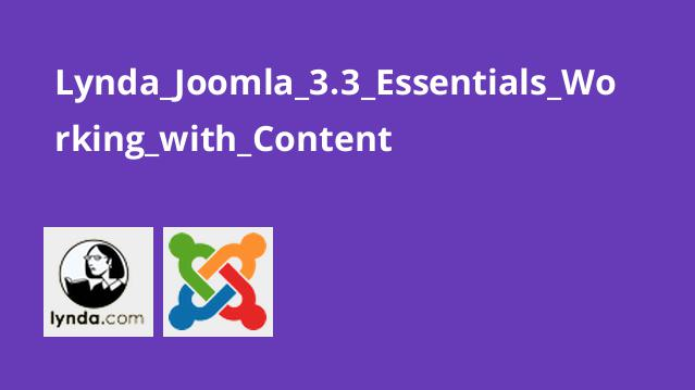 آموزش کار با محتوا در Joomla 3.3