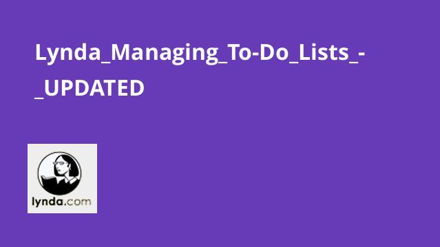 آموزش مدیریت To-Do Lists