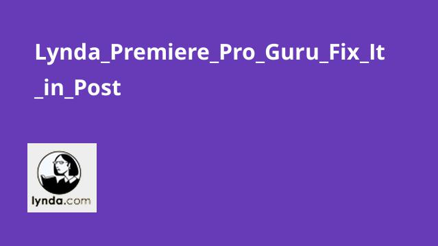 Lynda Premiere Pro Guru Fix It in Post