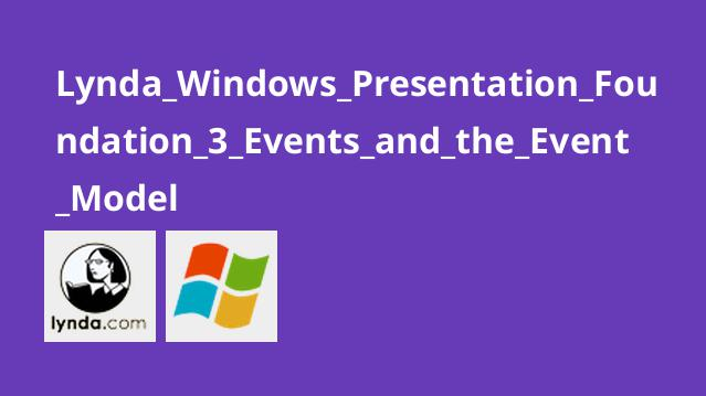 Lynda_Windows_Presentation_Foundation_3_Events_and_the_Event_Model