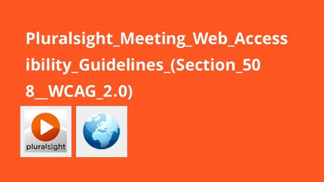 آموزش دستورالعمل های دسترسی به وب (Section 508  WCAG 2.0)