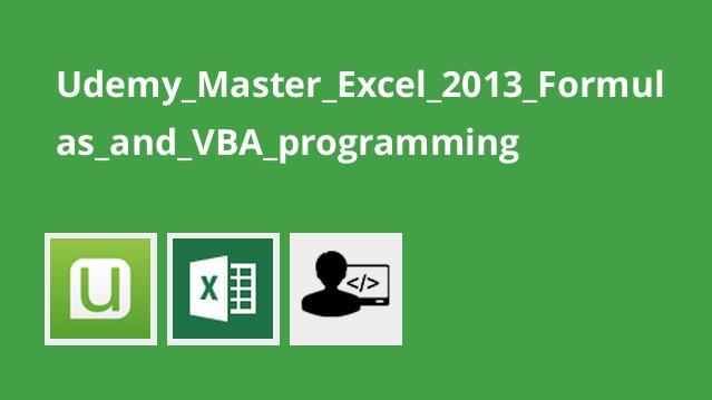 Excel 2013 – کار با فرمول ها و برنامه نویسی VBA