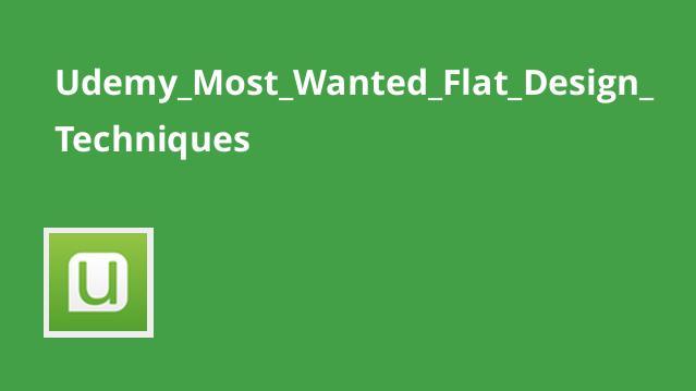 تکنیک های محبوب طراحی Flat