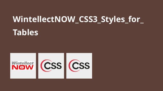 آموزش استایل هایCSS3 برای جداول