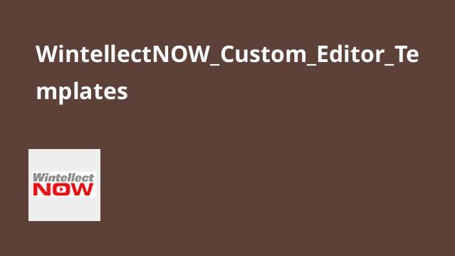 آشنایی با Custom Editor Templates