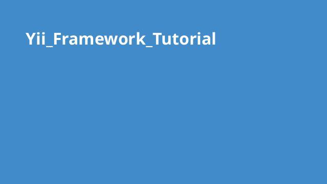 آموزش کامل Yii Framework