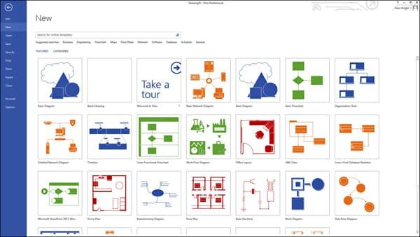 نمودارها و دیاگرام های ویزیو